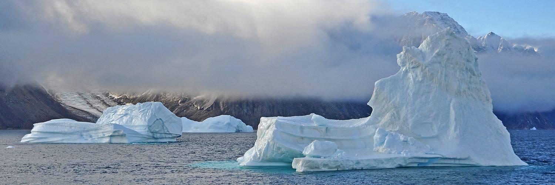 Eisberge im Scoresby Sund