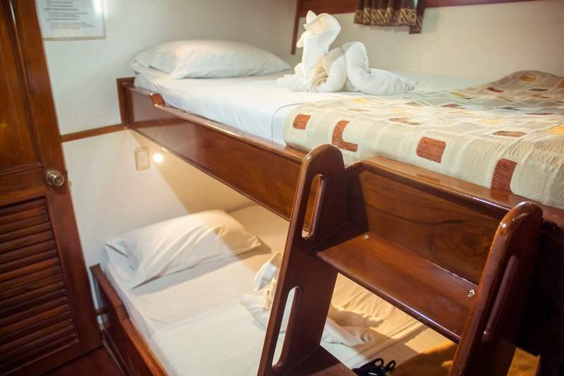 Ecuador Galapagos Estrella Del Mar Boat Interior Lower Deck Room - IMG5773 Lg RGB