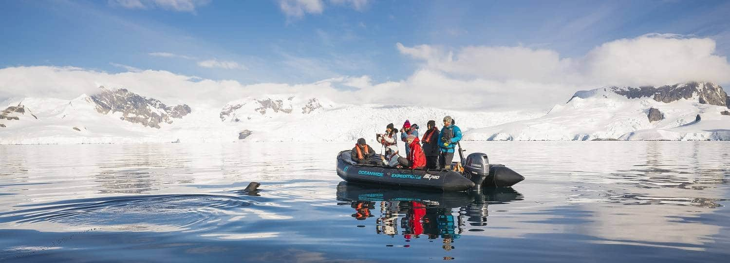 antarktis-kreuzfahrt-zodiac-vor-robbe-oceanwide
