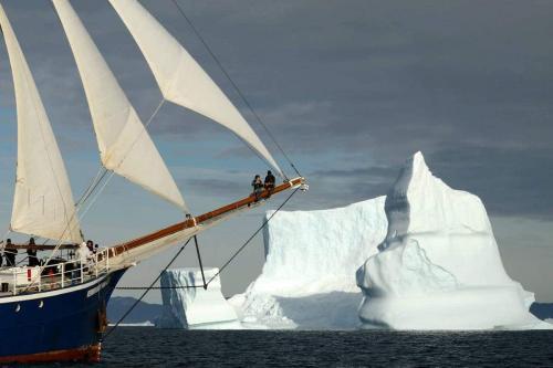REMBRANDT VAN RIJN in Grönland unter Segeln